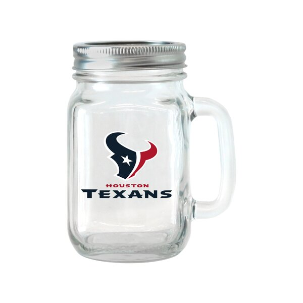 NFL Glass 16 oz. Mason Jar (Set of 2) by Boelter Brands