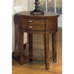 Weybossett Round End Table by Alcott Hill