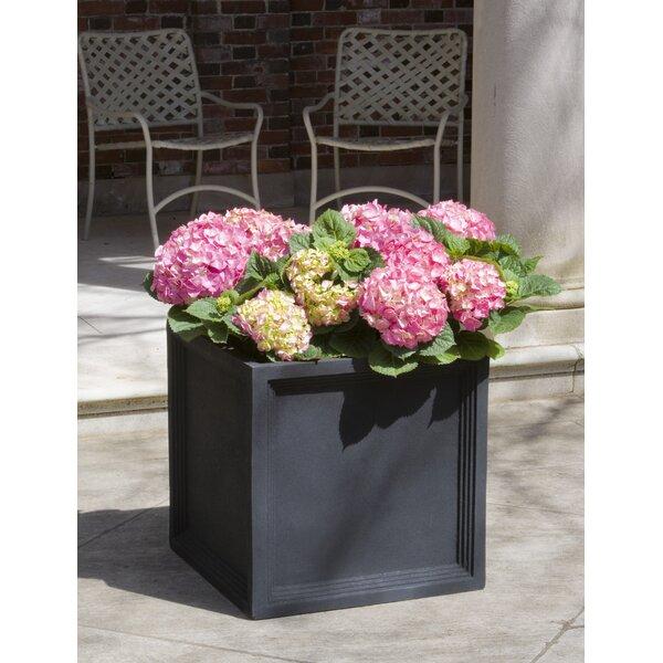 Gabriele Square Fiberglass Clay Composite Pot Planter by Darby Home Co