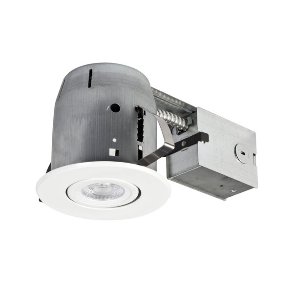 Swivel Round Trim 4 Recessed Lighting Kit by Globe Electric Company
