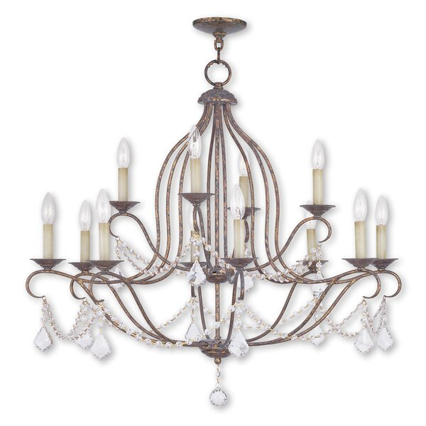 Bayfront 12-Light Candle Style Empire Chandelier With Crystal Accents Accents By Astoria Grand
