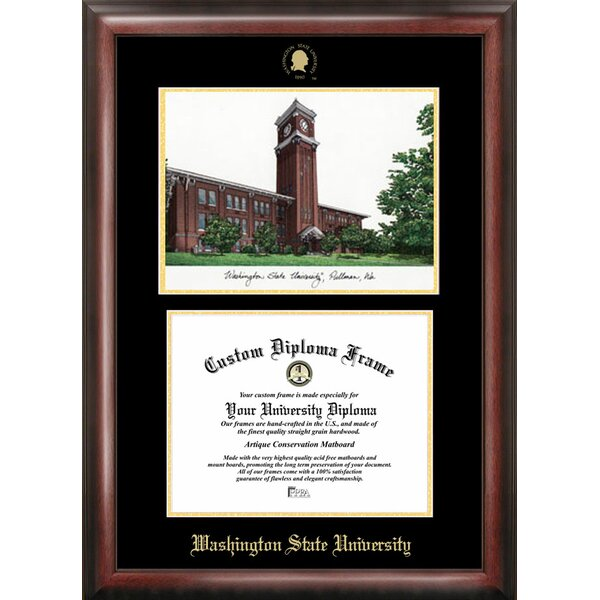 NCAA Washington State University Diploma Lithograph Picture Frame by Campus Images