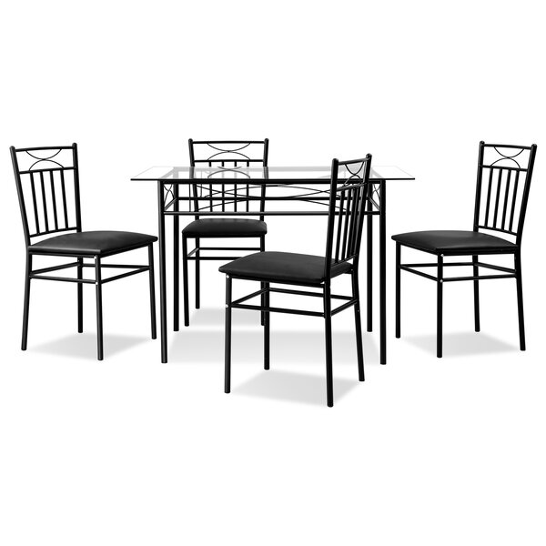 Valeriani 5 Piece Dining Set by Winston Porter
