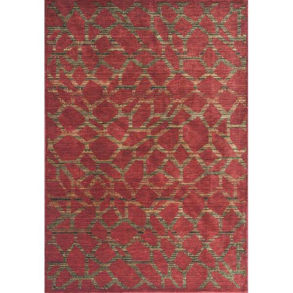 Underwood Earth Red Pebbles Area Rug by World Menagerie