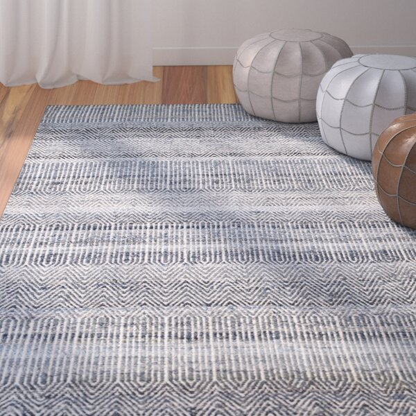 Cleavenger Hand-Woven Blue Area Rug by Bungalow Rose