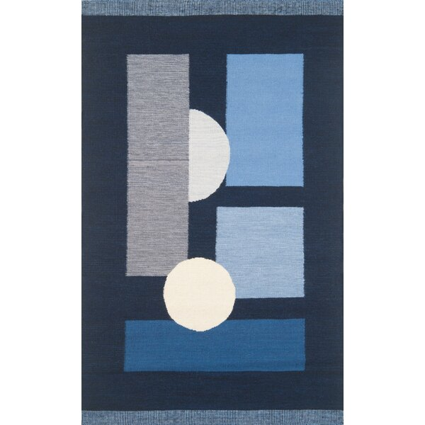 Nouveau Hand-Woven Blue Area Rug by Continental Rug Company