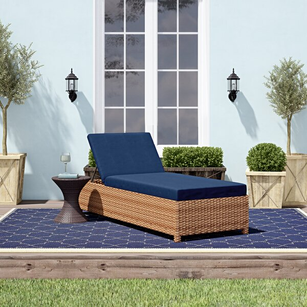 Waterbury Wheeled Outdoor Wicker Reclining Chaise Lounge (Set of 2) by Sol 72 Outdoor Sol 72 Outdoor