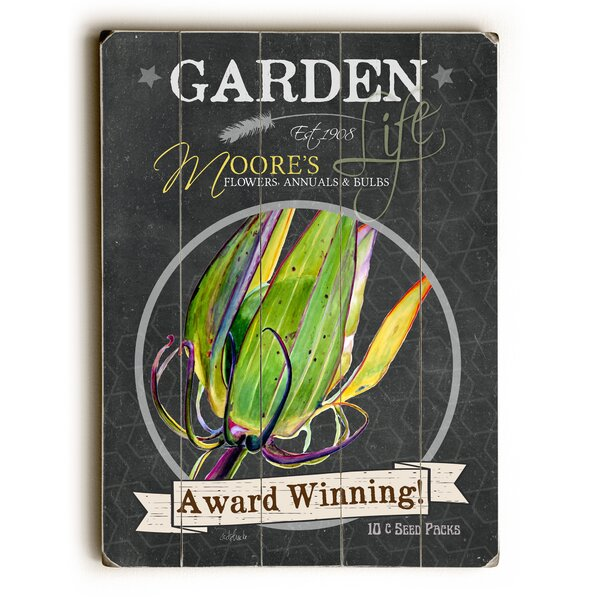Garden Award Winning Wooden Textual Art by August Grove