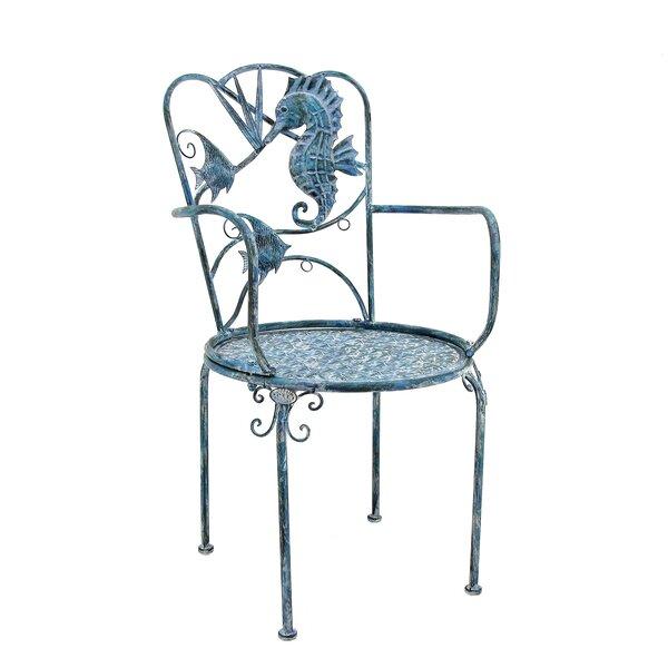 Elena Coastal Sea Creature Patio Dining Chair by Highland Dunes