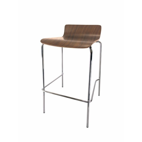 Rickia Café Height Industrial Stool (Set of 4) by Orren Ellis