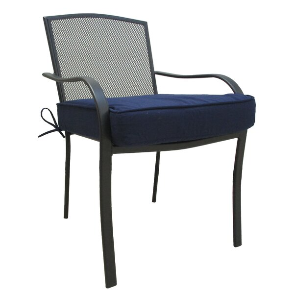 Solid Outdoor Dining Chair Cushion by Charlton Home
