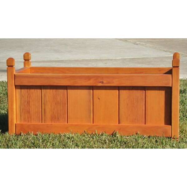 Wood Planter Box by Best Redwood