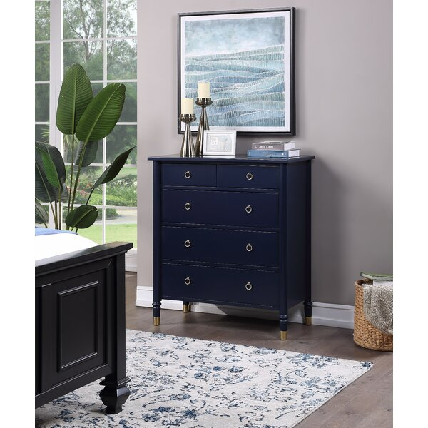Metcalf 5 Drawer Chest by Alcott Hill