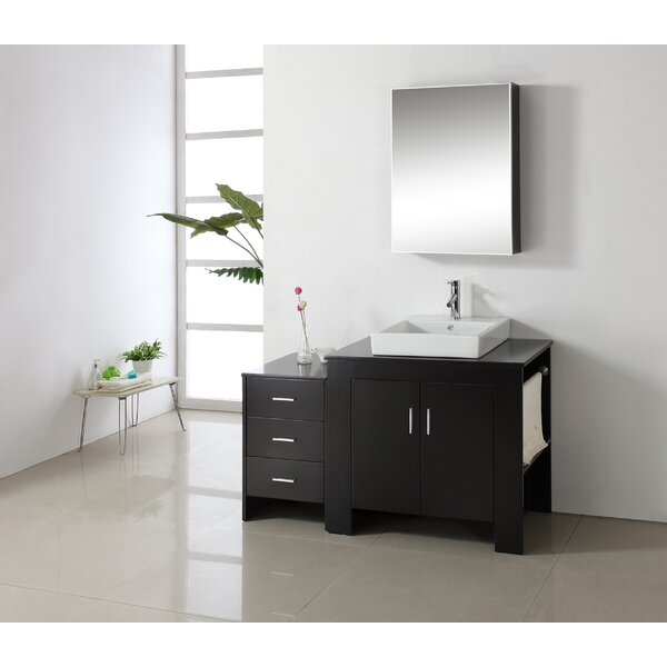 Glen Ridge 53.9 Single Bathroom Vanity Set with Mirror by Wade Logan