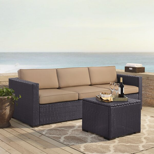 Dinah 3 Piece Sofa Set with Cushions by Highland Dunes