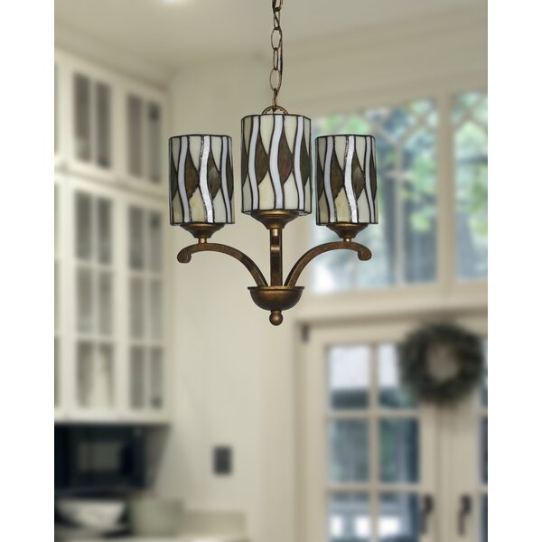 Ronna 3-Light Shaded Classic / Traditional Chandelier by Millwood Pines Millwood Pines