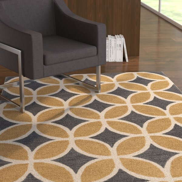 Kroeker Sand/Charcoal Area Rug by Latitude Run
