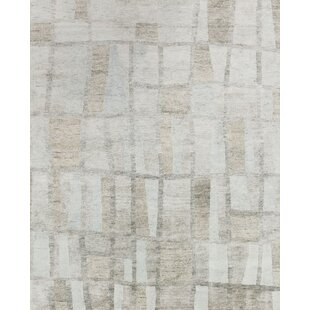 Find for Pamrapo Hand-Knotted Gray Area Rug By Union Rustic