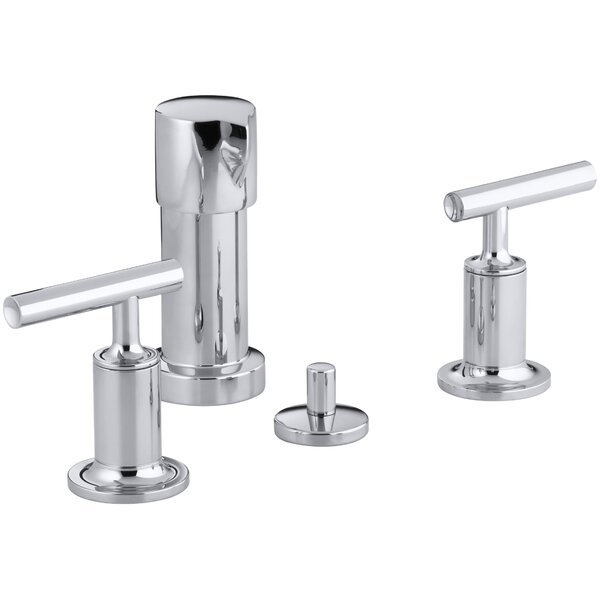 Purist Vertical Spray Bidet Faucet with Lever Handles by Kohler