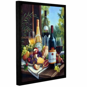 Still Life with Wines Framed Painting Print on Wrapped Canvas by Charlton Home