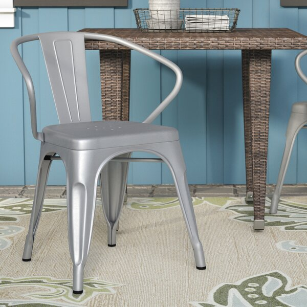 Ellecourt Stacking Patio Dining Chair (Set of 2) by Laurel Foundry Modern Farmhouse