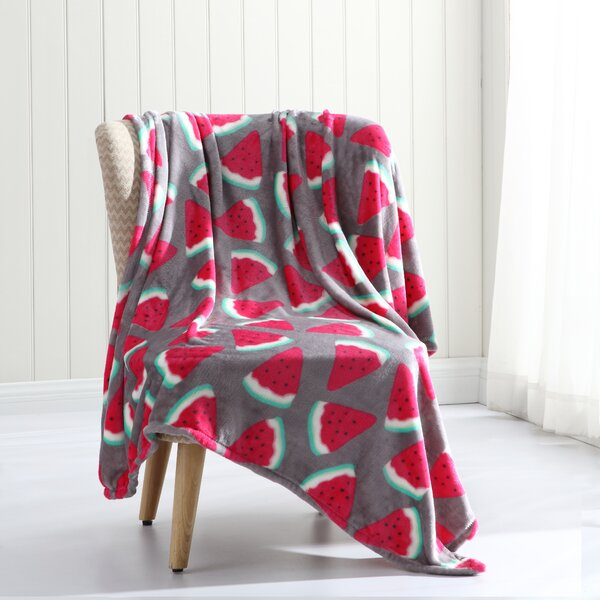 Cave Tropical Plush Throw by Wrought Studio