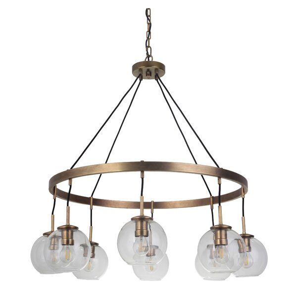 Dex 8-Light Shaded Empire Chandelier By Longshore Tides
