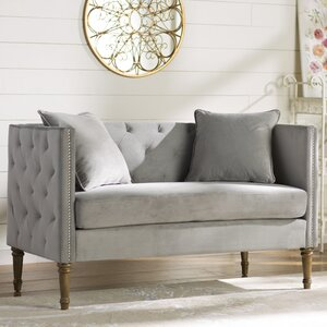 Vanves Tufted Chesterfield Settee by Lark Manor