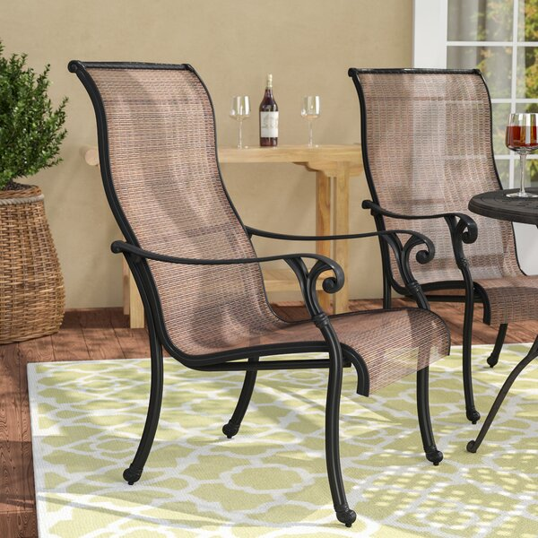 #1 Germano Stacking Patio Dining Chair (Set Of 2) By Darby Home Co Wonderful
