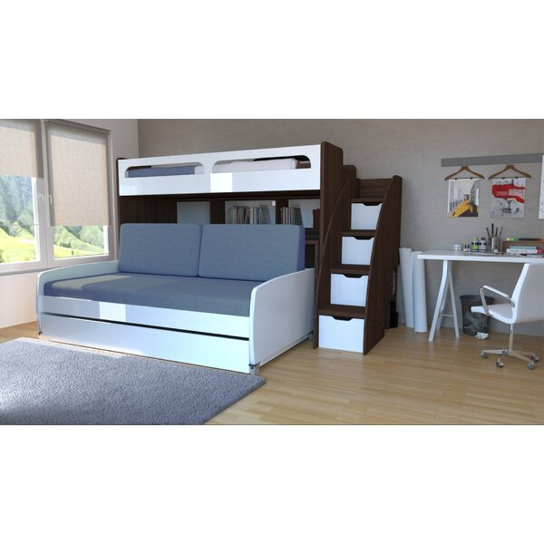Gautreau Twin L-Shaped Bunk Bed with Trundle and Drawers by Brayden Studio