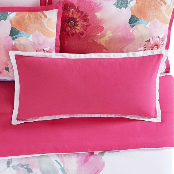 Bold Floral Cotton Lumbar Pillow by Christian Siriano