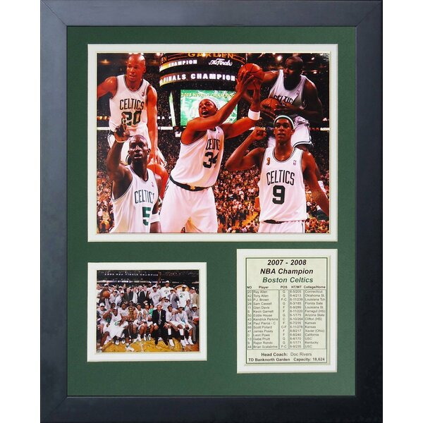 2008 Boston Celtics NBA Champions Framed Photographic Print by Legends Never Die