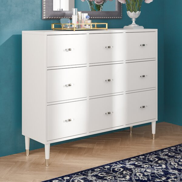 Tifton Modern 9 Drawer Chest by Willa Arlo Interiors