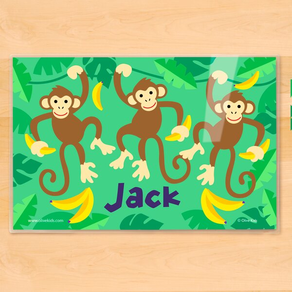Monkeys Personalized Placemat by Olive Kids
