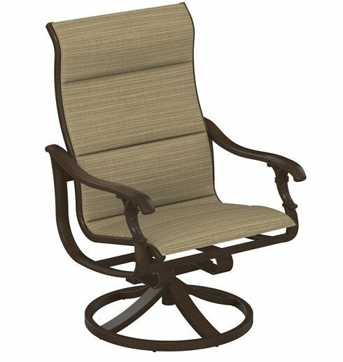 Ravello Padded Sling Swivel Action Patio Chair by Tropitone