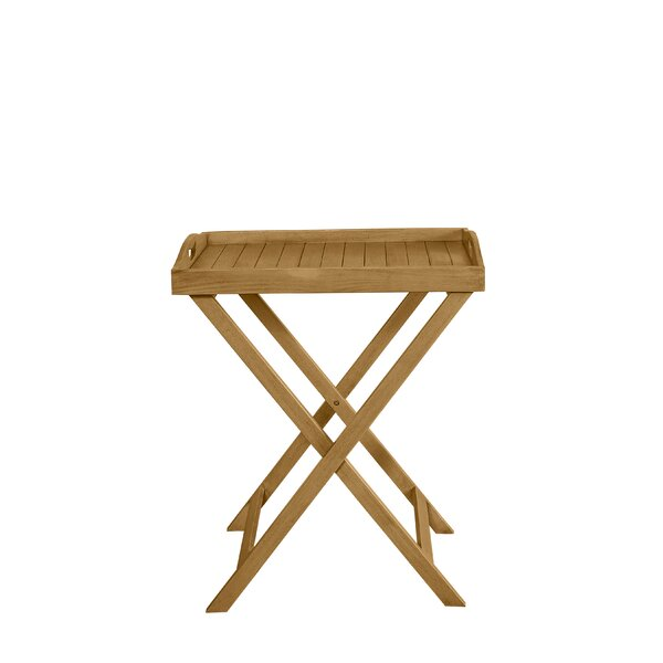 Belle Folding Wooden Side Table by Highland Dunes