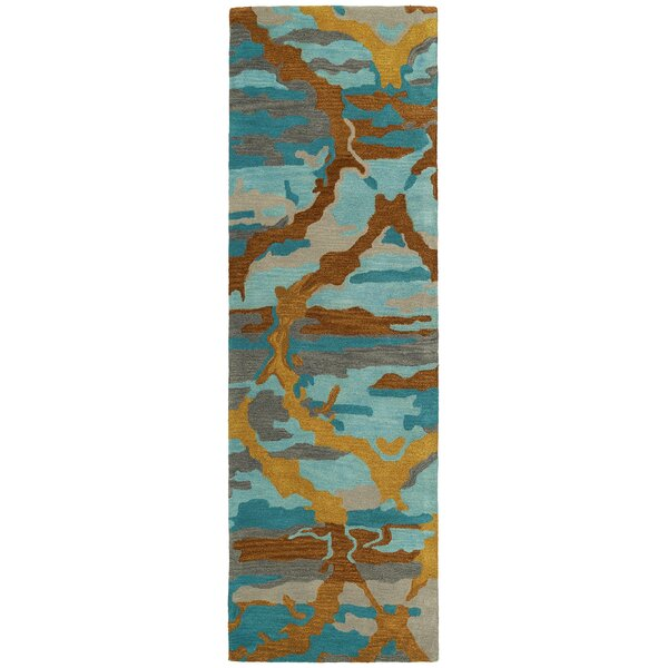 Virginis Teal Area Rug by Latitude Run