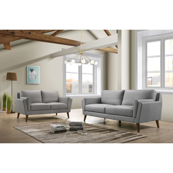 Corrigan Studio Leather Living Room Sets