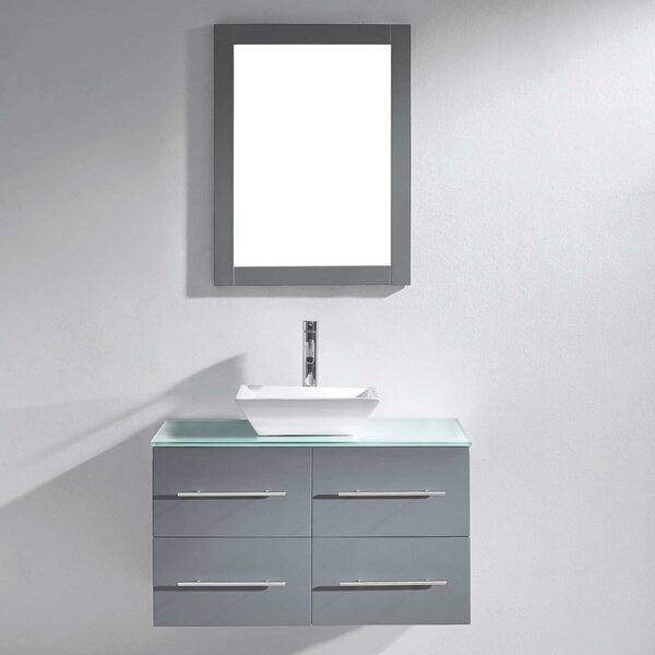 Decastro 35 Single Bathroom Vanity Set with Mirror by Mercury Row