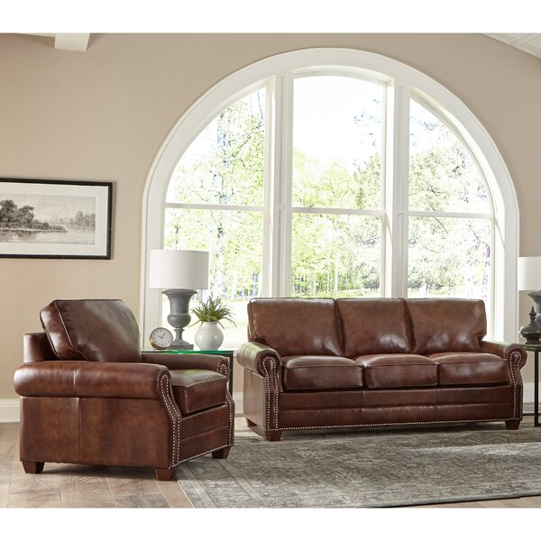 Lyndsey 2 Piece Leather Sleeper Living Room Set by 17 Stories