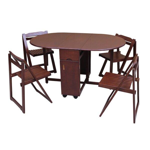 Saviour 5 Piece Solid Wood Dining Set by TTP Furnish