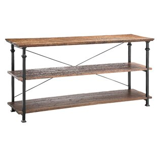 Urban Natural Poplar and Iron Console Table