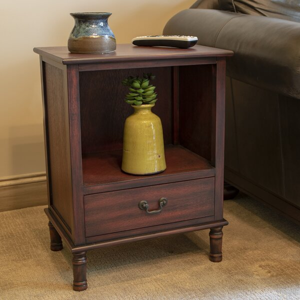 India End Table with Storage by Alcott Hill