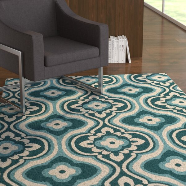 Mucci Teal Area Rug by Ebern Designs