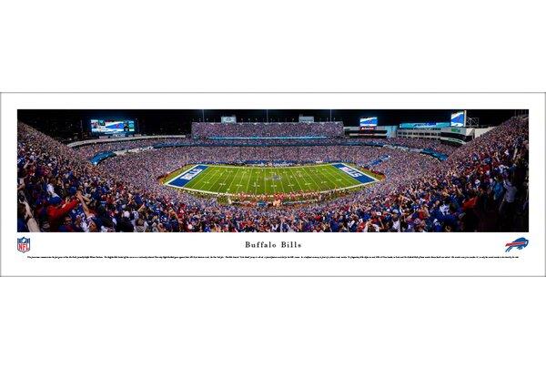 NFL Buffalo Bills 50 Yard Line Night Game Photographic Print by Blakeway Worldwide Panoramas, Inc