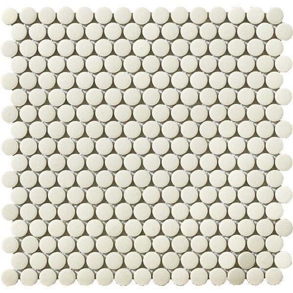 Urban 0.75 x 0.75 Porcelain Mosaic Tile in Off-White Penny by Walkon Tile