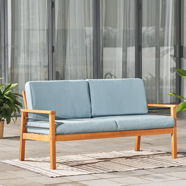 Mcevoy Patio Sofa with Cushions by Rosecliff Heights
