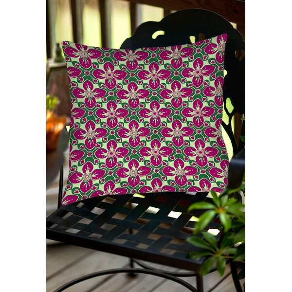Anna Medallion 4 Indoor/Outdoor Throw Pillow by Manual Woodworkers & Weavers