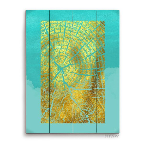 Abstract Wood Grain Graphic Art Plaque by Click Wall Art