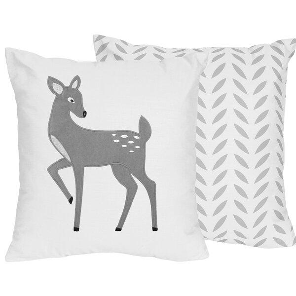 Forest Deer Throw Pillow by Sweet Jojo Designs